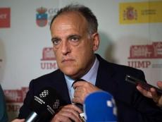 A Tebas no le importa la opinión del Real Madrid sobre el partido en Estados Unidos. EFE/Archivo