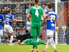 Caprari dejó en tablas un partido que se le complicó a la Sampdoria con el gol de Simeone. EPA