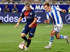 La SD Huesca anunció la renovación del defensa Luisinho. EFE