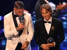 Ramos y Modric, en el once ideal de la FIFA. EFE