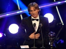 Modric ganó el 'The Best' en el 2018. EFE