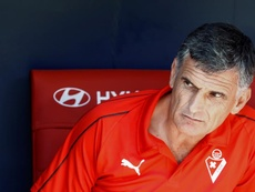 El técnico del Eibar, feliz por la eficacia. EFE