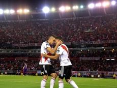 Quintero y Borré hicieron los goles de River. EFE/Archivo