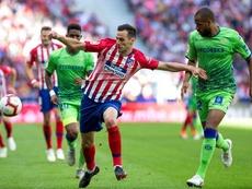 Kalinic no estuvo ni en el banquillo en el primer amistoso del Atlético. EFE