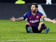 Los números de las ausencias de Messi. EFE