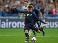 Griezmann marcou duas vezes contra a Alemanha. EFE