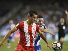 Bernardo gozó de mucho protagonismo esta temporada con el Girona. EFE/Archivo