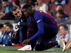 Dembélé no recortó su descanso. EFE