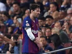 Messi no estará ante el Inter esta noche. EFE