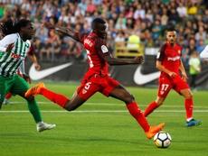 Amadou volvió a entrenar con el grupo. EFE/Archivo