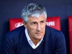 El técnico del Betis alabó el gran trabajo del Racing. EFE