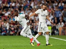 Vinicius y Rodrygo apuntan a titulares en el Reale Arena. EFE