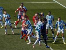 El Atleti nunca ha conquistado Butarque en Primera. EFE