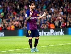 Messi fue el 'Pichichi' la pasada temporada, con 34 goles. EFE/Archivo
