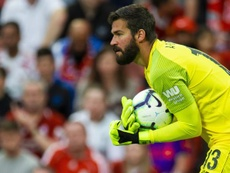 Alisson has returned to collect the award for his Roma exploits last season. EFE