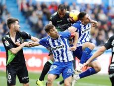 Manu García sacó pecho por la temporada del Alavés. EFE