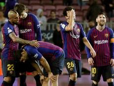 El Barcelona lamentó su última derrota en casa ante el Betis. EFE