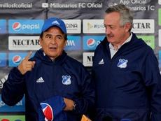 Jorge Luis Pinto cargó contra el arbitraje. EFE