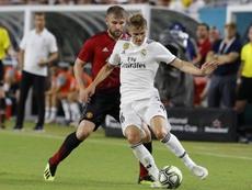 El Madrid amplió el contrato de Odegaard antes de cederle. EFE/Archivo