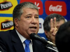 The Ecuador coach's press conference lasted under a minute. EFE