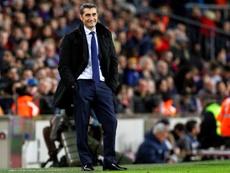 Valverde content avec Dembélé. EFE