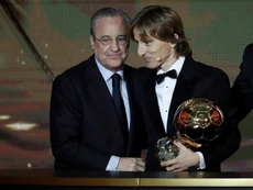 Florentino alabó una vez más a Luka Modric. EFE