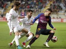 Munir tiene contrato con el Barça hasta junio de 2019. EFE/Archivo
