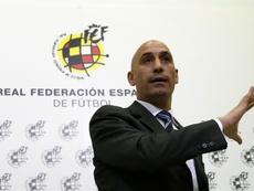 Luis Rubiales escribió un nuevo capítulo en su enfrentamiento con Tebas. EFE/Archivo