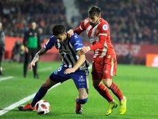 El Celta toma la delantera por Portu (d). EFE