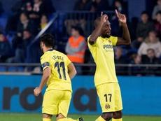 Toko Ekambi, entre los mejores goleadores del Villarreal. EFE