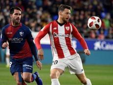 El delantero volvió a su mejor nivel ante el Huesca. EFE