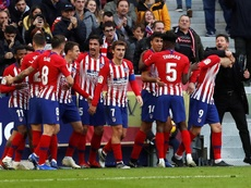Once son los jugadores que han visto puerta en Liga con el Atlético. EFE