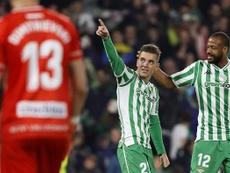 El Betis ganó con goles de Lo Celso y Sidnei. EFE/Archivo