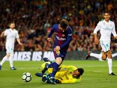 Messi, un génie sur coup de pied arrêté. EFE