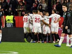 El Krasnodar perdió 3-0 en el Sánchez Pizjuán. EFE