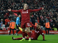 Shaqiri proved to be the difference for Liverpool against United. AFP