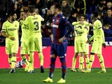 Barcelone a remporté une victoire de prestique devant Levante. EFE