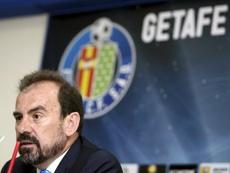 Ángel Torres, contento con la cara del Getafe. EFE/Archivo