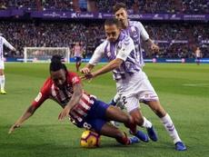 El lateral del Pucela Nacho Martínez alabó la calidad del Sevilla. EFE