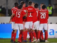 A equipa do Benfica. EFE