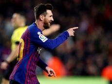 Leo Messi pode ser titular no jogo contra o Levante. EFE