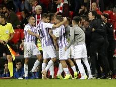 El Valladolid se llevó un punto de Bilbao la pasada campaña. EFE