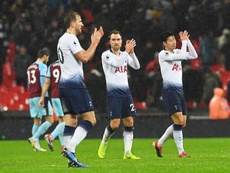 Tottenham celebran un gol. EFE/EPA/Archivo