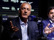 Gustavo Alfaro fue entrevistado tras golear a San Martín de Tucumán. EFE/Archivo