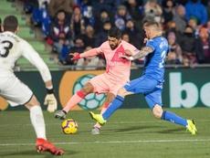 Les joueurs du FC Barcelone ont critiqué la pelouse de Getafe. EFE