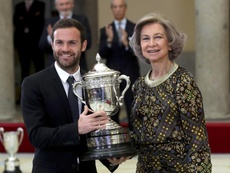Mata is relaxed about his future at Old Trafford. AFP
