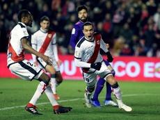 Raúl de Tomás marcó su primer 'hat trick' en Primera División. EFE