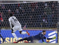 El espejo de Moise Kean se llama Cristiano Ronaldo. EFE/EPA