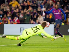 Ousmane Dembele scored twice in an impressive personal display.