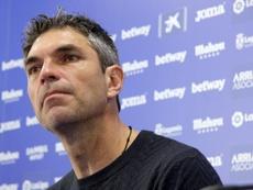 Mauricio Pellegrino no buscó excusas tras caer por 3-0 en Anoeta. EFE/Archivo